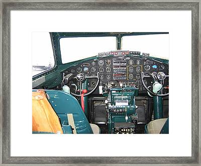 B-17 Flying Fortress Yankee Lady Cockpit Framed Print