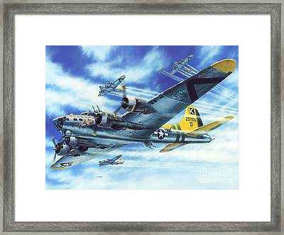 B-17g Flying Fortress A Bit O Lace Framed Print by Stu Shepherd