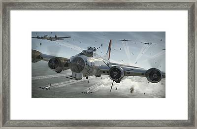 B-17g Hikin' For Home Framed Print