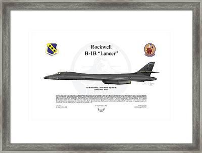B-1b Lancer 7bw Framed Print by Arthur Eggers
