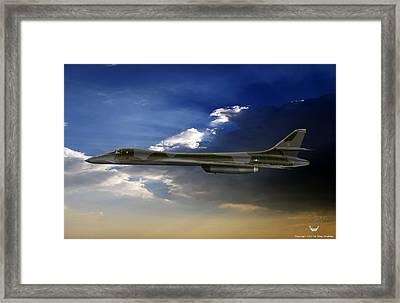B-1b Lancer Framed Print by Arthur Eggers