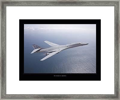 B-1b Lancer Framed Print by Larry McManus