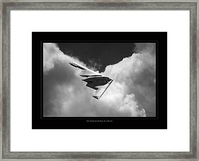 B-2 Spirit Framed Print by Larry McManus