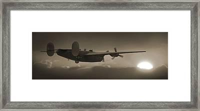 B - 24 Into The Sun Panoramic Framed Print