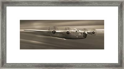 B - 24 Liberator Legend Panoramic Framed Print