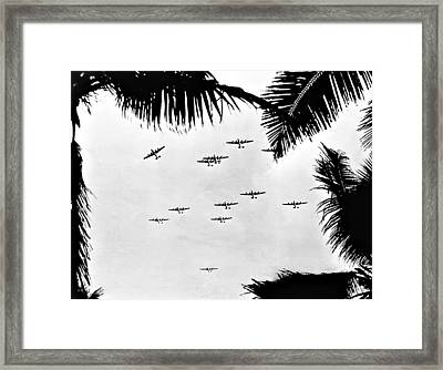 B 24 Squadron Framed Print by Unknown