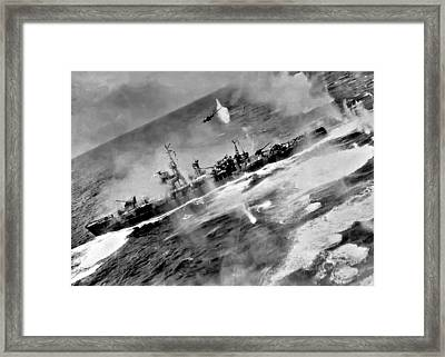 B 25 Attack Framed Print by Unknown