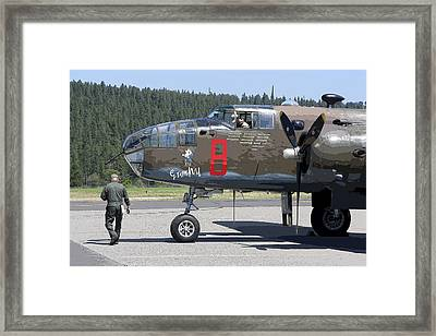 B-25 Bomber Pre-flight Check Framed Print by Daniel Hagerman