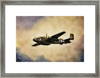 B-25 Georgie's Gal Framed Print by Peter Chilelli