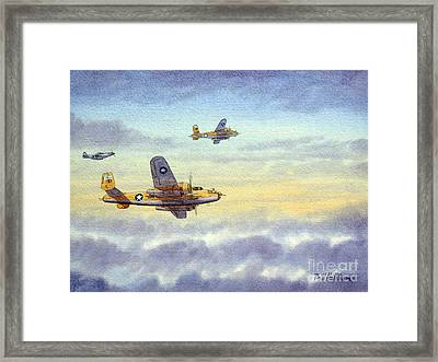 Framed Print featuring the painting B-25 Mitchell by Bill Holkham
