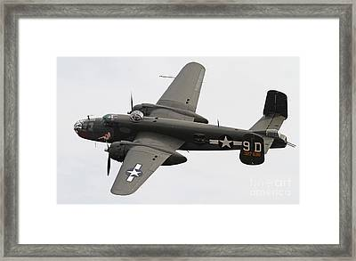 B-25 Mitchell Bomber Aircraft Framed Print by Kevin McCarthy