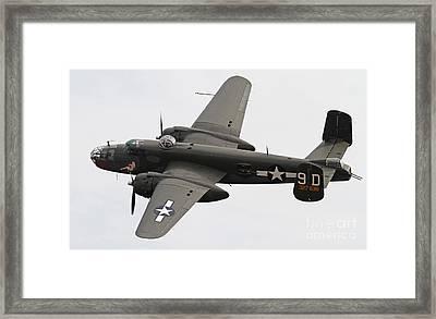 B-25 Mitchell Bomber Aircraft Framed Print