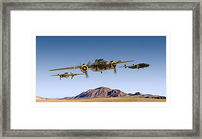 B-25 Mitchell Bomber Framed Print by Larry McManus