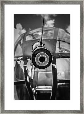 B 25 Mitchell Nose Gun Framed Print by Puget  Exposure