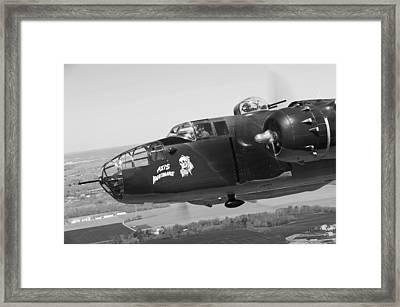 B-25 Framed Print by Mountain Dreams