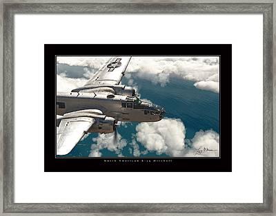 B-25 On Patrol Framed Print by Larry McManus