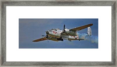 B-25 Take-off Time 3748 Framed Print by Guy Whiteley