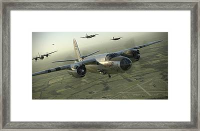 B-26 Feudin Wagin Framed Print by Robert Perry