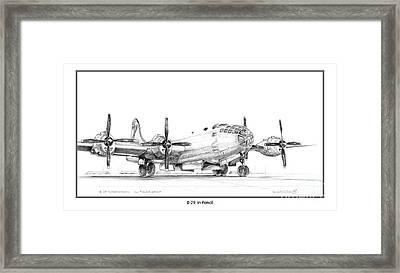 B-29 Framed Print by Kenneth De Tore