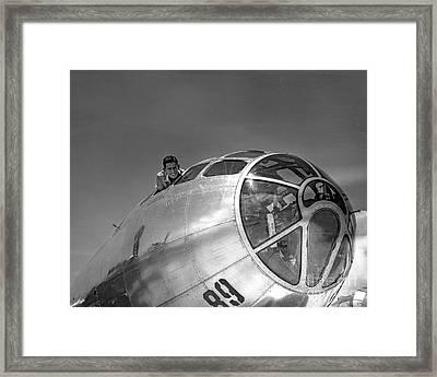 B-29 Portrait Framed Print