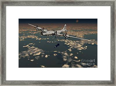 B-29 Superfortress Dropping Little Boy Framed Print