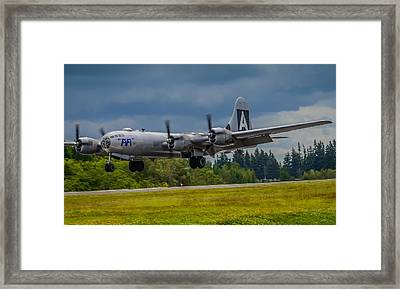 B-29 Superfortress Flair  Framed Print by Puget  Exposure