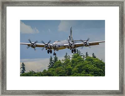 B-29 Superfortress Landing Framed Print by Puget  Exposure