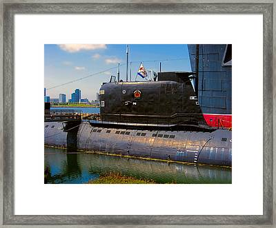 B-427 Scorpion Submarine Long Beach Ca Framed Print by Wendy J St Christopher