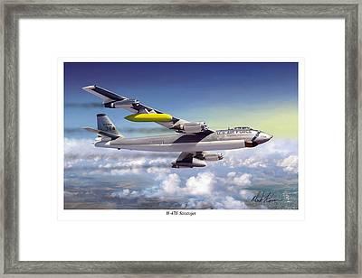 B-47e Stratojet Framed Print by Mark Karvon