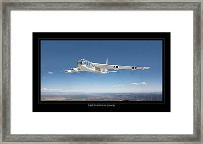 B-52b Stratofortress Framed Print by Larry McManus