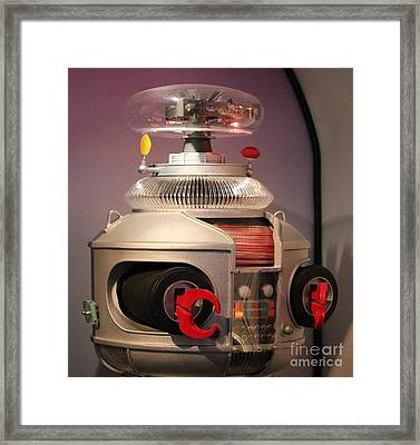 Framed Print featuring the photograph B-9 Robot From Lost In Space by Cynthia Snyder