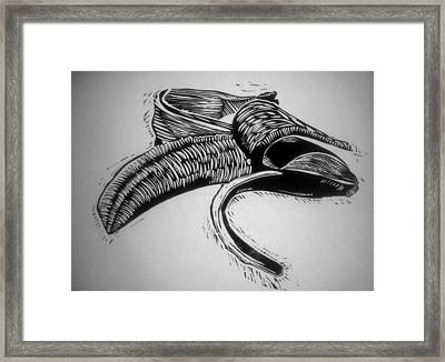 B A N A N A Framed Print by Aaron Ebanks