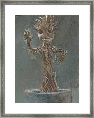 B And G Is For Baby Groot Framed Print