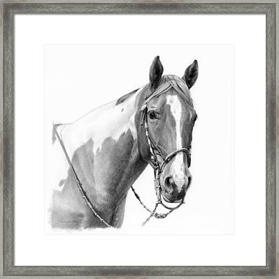 B And W Study Framed Print
