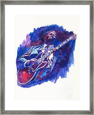 B. B. King Blue Framed Print