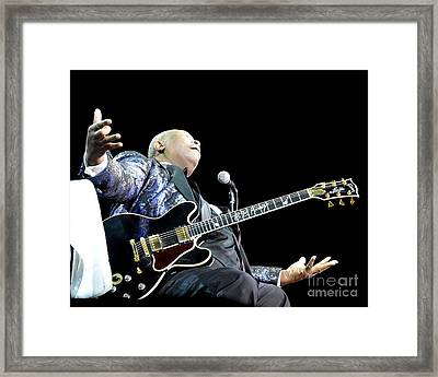 B B King Framed Print