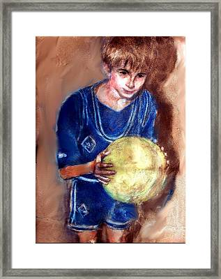 B-ball Framed Print