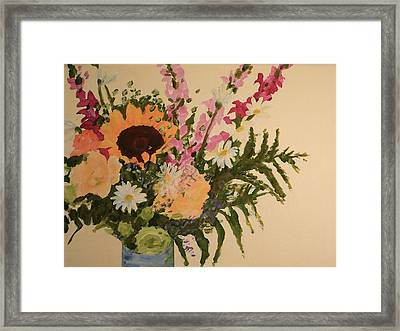 B-day Bouquet Framed Print by Valerie Lynch