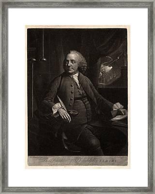 B. Franklin Of Philadelphia L.l.d. F.r.s.  M. Chamberlin Framed Print