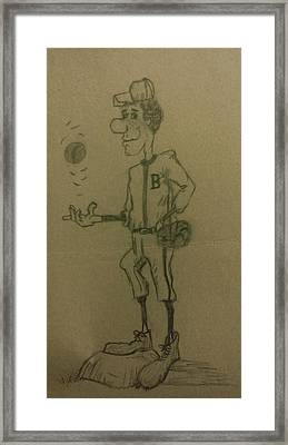 B Is For Baseball Framed Print by Christy Saunders Church