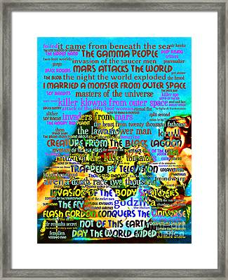 B Movies Creature From The Black Lagoon 20130627 Framed Print by Wingsdomain Art and Photography