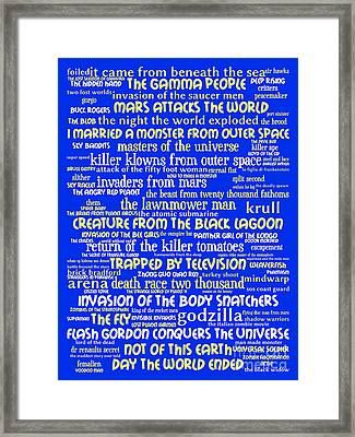 B Movies Science Fiction 20130627 Framed Print