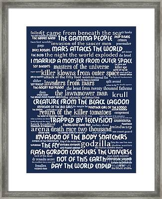 B Movies Science Fiction 20130627bwcool80 Framed Print