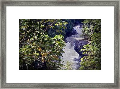 The Kwa Falls H Framed Print