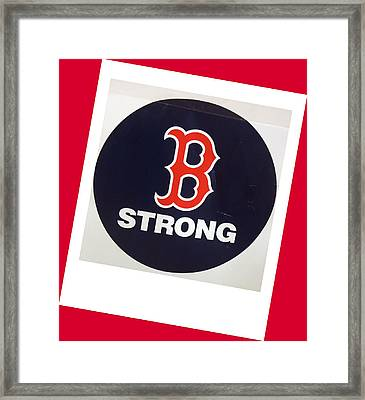 B Strong Red White And Blue Framed Print by Caroline Stella
