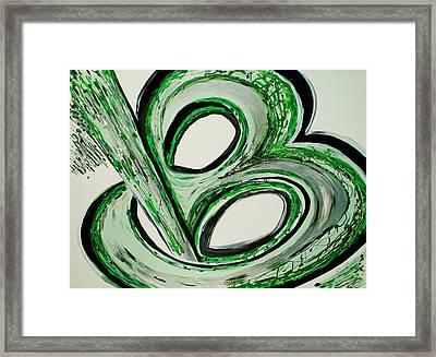 B U-nique Framed Print