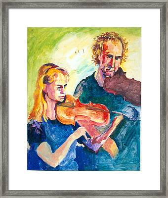 B02. Duet Players Framed Print