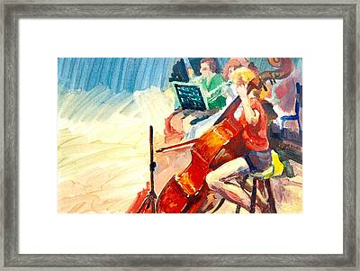 B03. The Cellist Framed Print