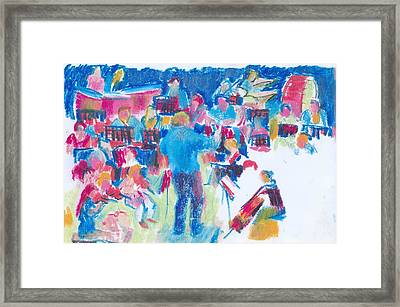 B04. Creating The Composition Framed Print
