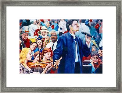 B06. The Singer Framed Print